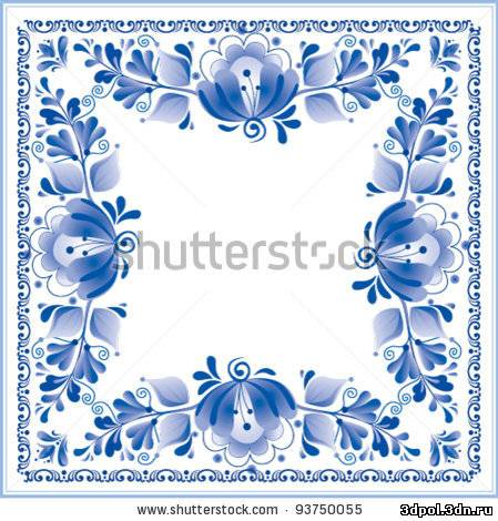 Stock vector traditional russian ornament gzhel 93750055